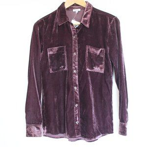 Splendid Velvet Button Front Shirt NEW Top